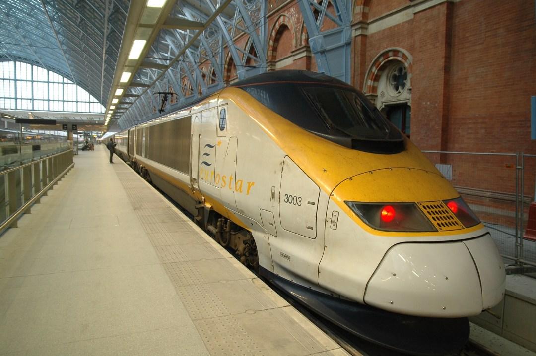Eurostar train at platform