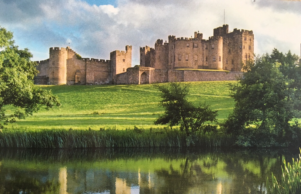Alnwick Castle in Northumberland. The grounds were used as filming locations in the first two Harry Potter films