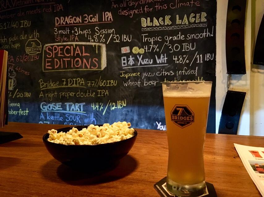 7 Bridges brewery craft beer menu and pint