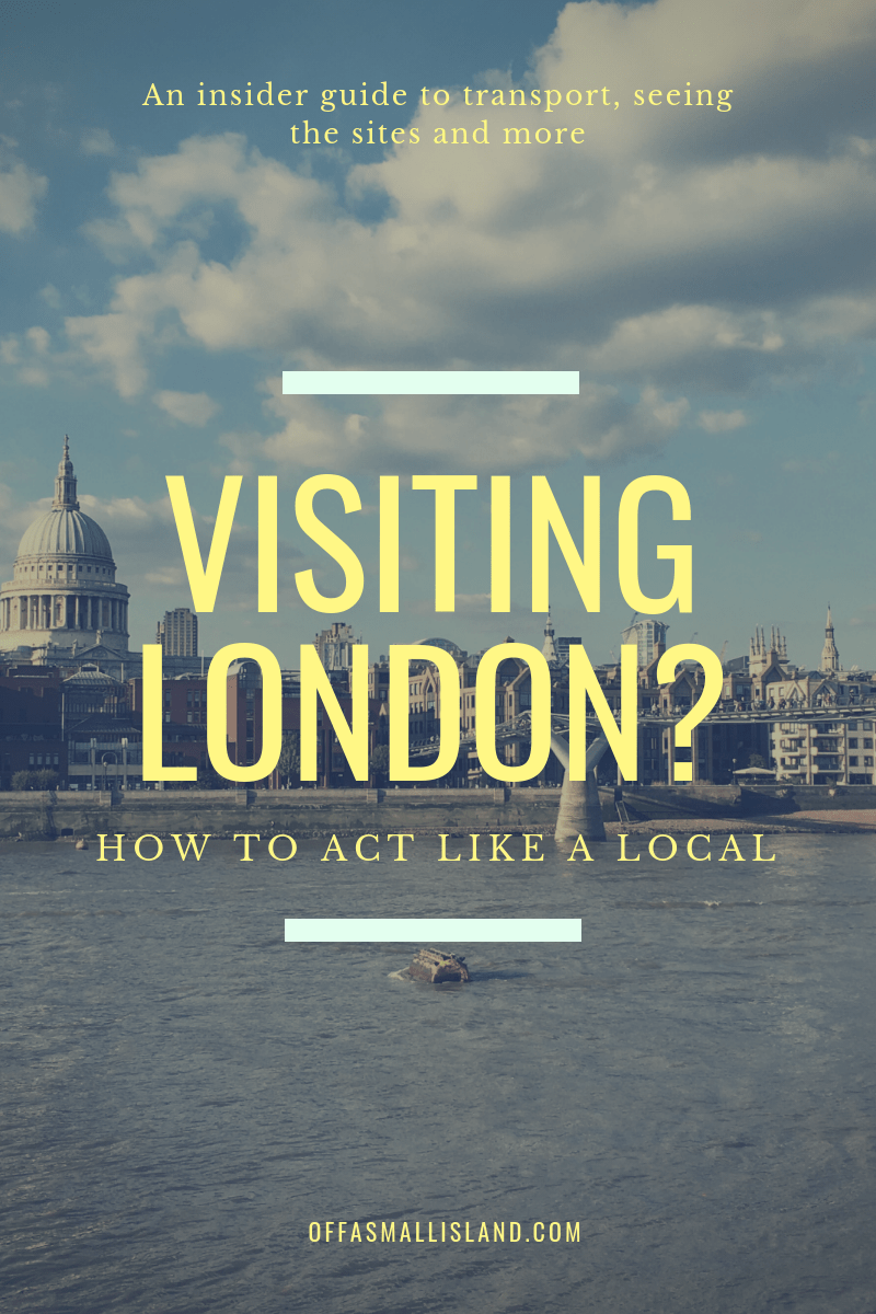 Visiting London? Tips for acting like a Local - Pinterest Graphic