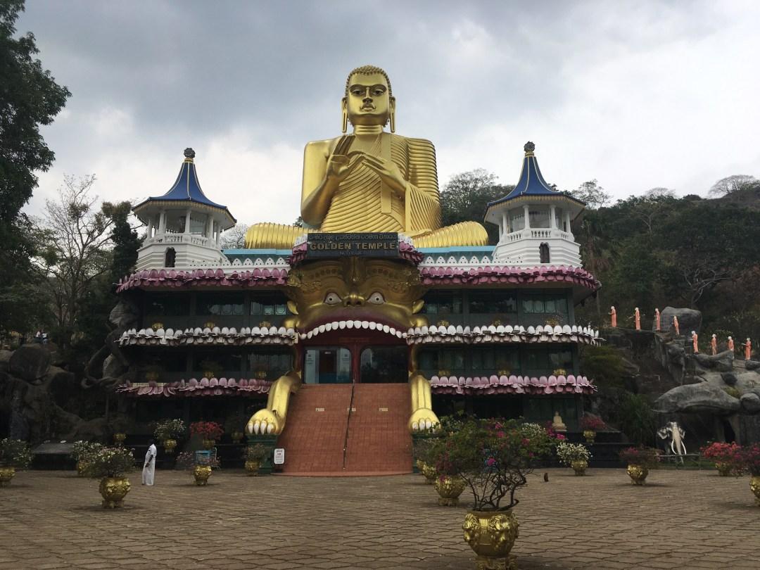 Golden Temple in Sri Lanka