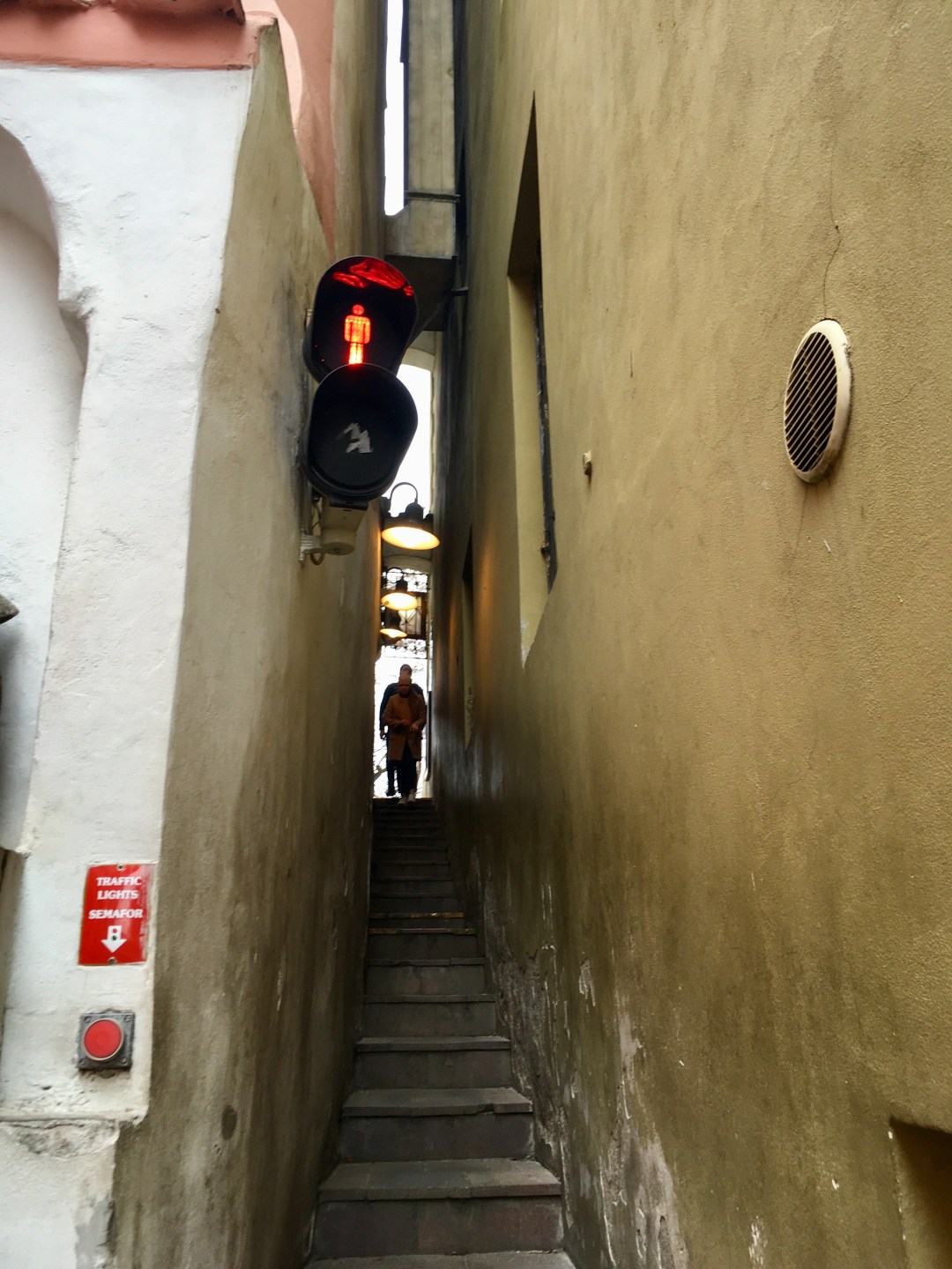 Narrowest street Prague Czech Republic