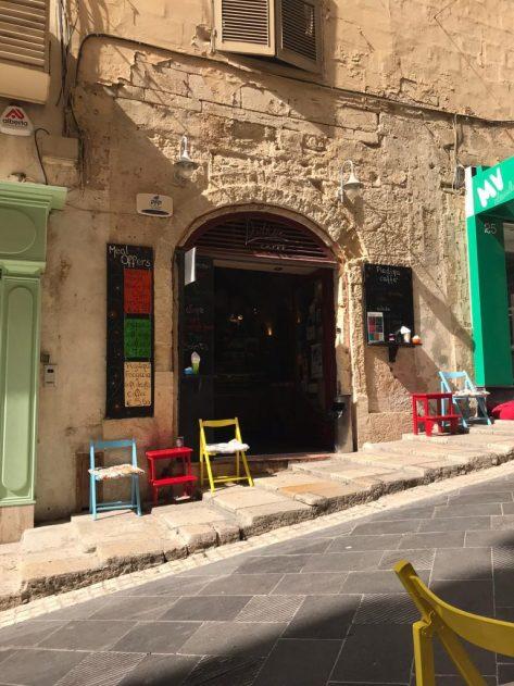 Exterior of Piadina cafe in Valletta