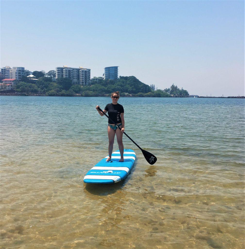 Girl SUP Boarding in Tweed Heads, Gold Coast, Australia