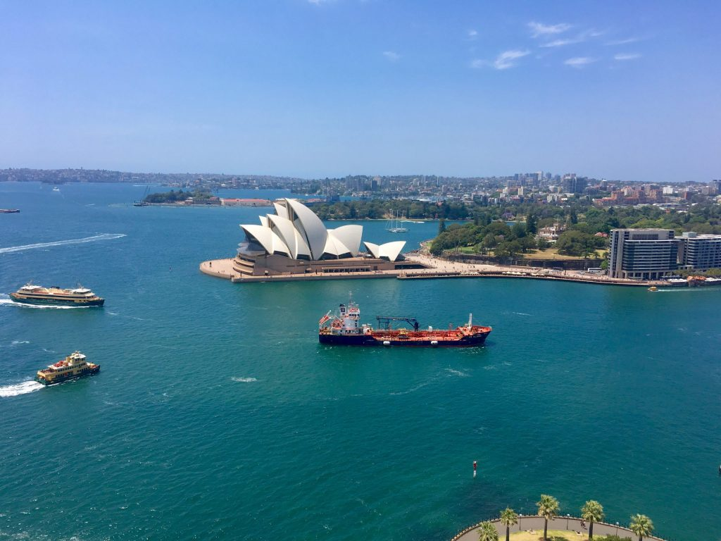 View from Pylon of Sydney Harbour and Sydney Opera House
