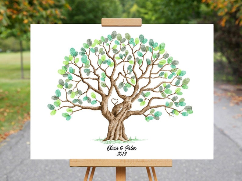 This is a DIGITAL download item, NO PHYSICAL item will be shipped to your address. ............................................................................................ This fingerprint tree can give you nice memories about a birthday party, wedding or any other capital event.