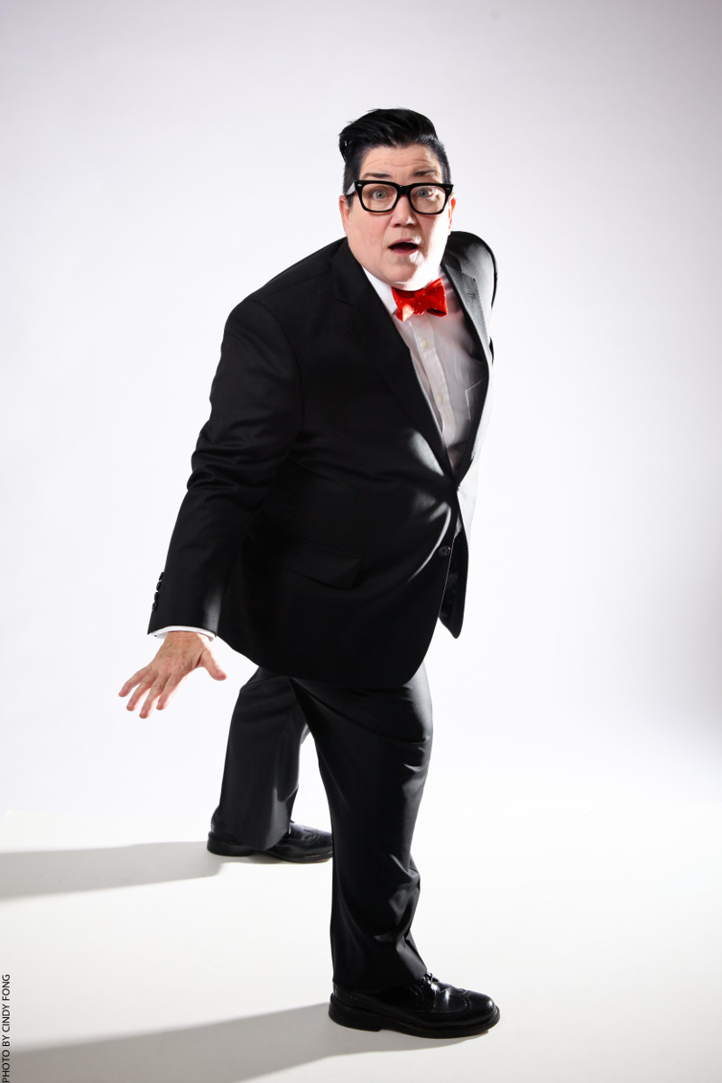 Lea Delaria rocking a Lyon Suit from Saint Harridan. Photo by Cindy Fong.