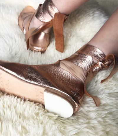Rose Gold Bridal Flat as seen on Offbeat Bride