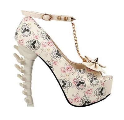 Skull wedding shoes for your Halloween wedding, or just because