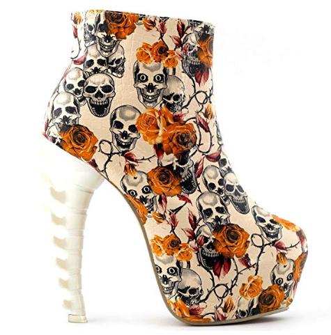 Skull wedding heels for your Halloween wedding, or just because