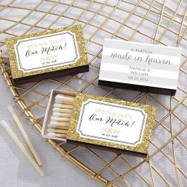 match made in heaven wedding favors on offbeat bride