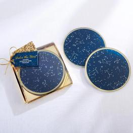 under the stars coasters wedding favors on offbeat bride