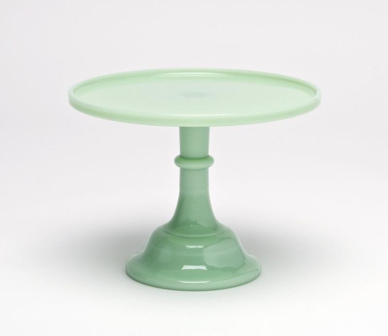 Jadeite Jade Green Milk Glass Cake Plate Stand