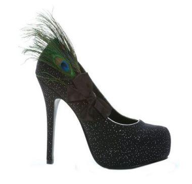 Iridescence Peacock Platform High Heeled Shoes