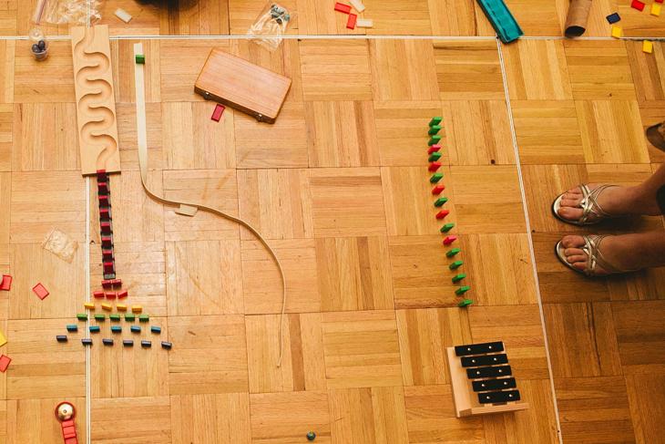 Part of the Rube Goldberg machine.
