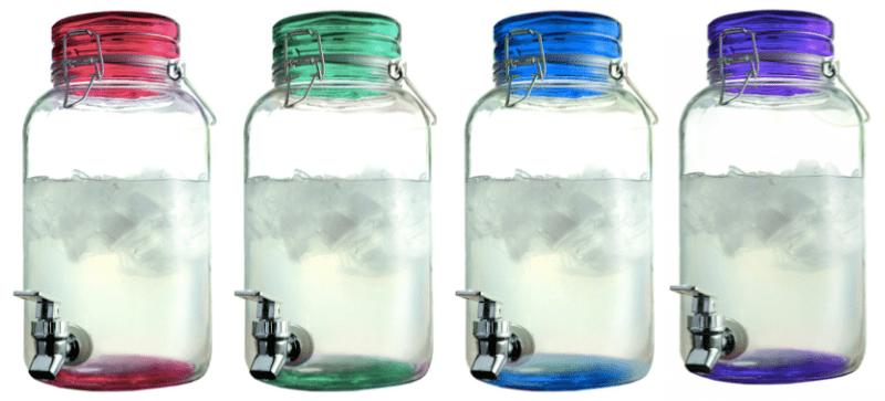 Style setter colorful mason jar dispenser