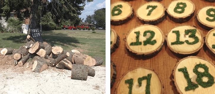 from logs to table numbers