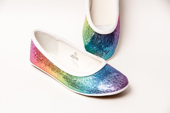 Colorful wedding flats to keep your feet happy and your eyes twinkling