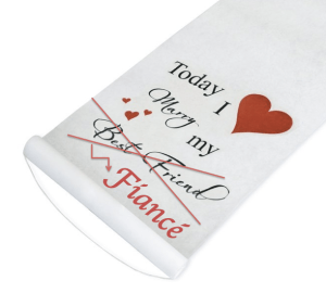 Sorry, Cathy's Classic Aisle Runner. I'm marrying my fiance, not my best friend.