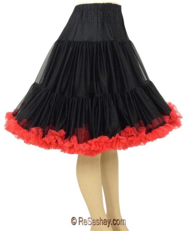 Custom chiffon with fluff petticoat.