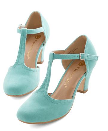Hep in Your Step Heel in Aqua