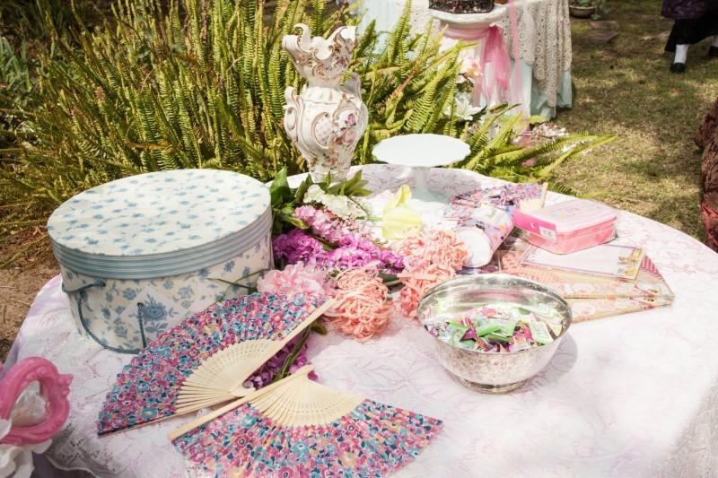 austenland bridal shower decor hatboxes