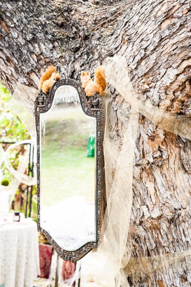 austenland bridal shower decor mirror