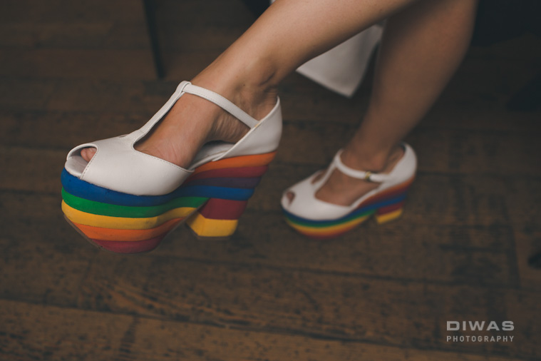 ariels rainbow shoes