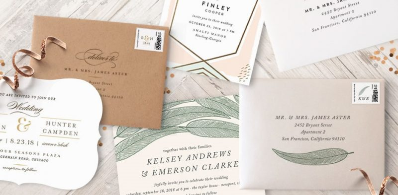 We're in love with these custom printed envelopes from Minted!