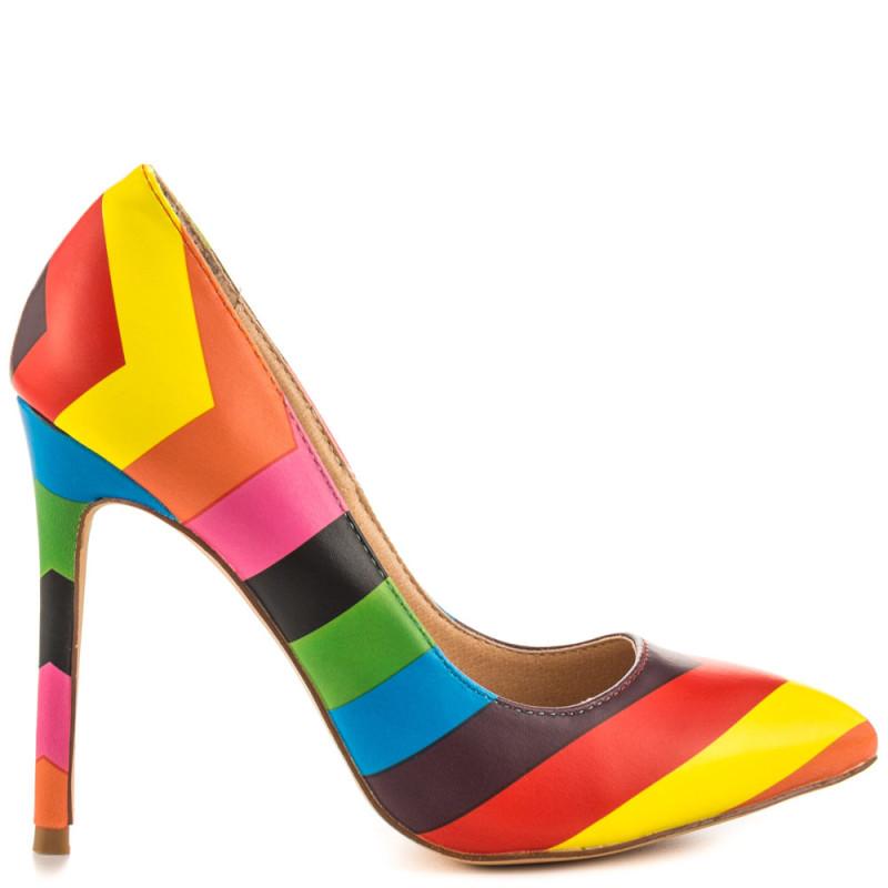 rainbow shoes on offbeat bride
