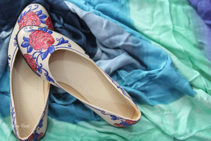 Hand Painted Wedding Shoes custom Wedding Shoes seen on offbeat bride