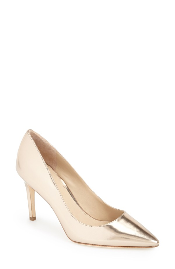 gold bridal shoes in tiny sizes on offbeat bride