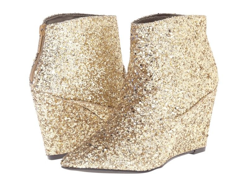 gold glittery boots for wedding
