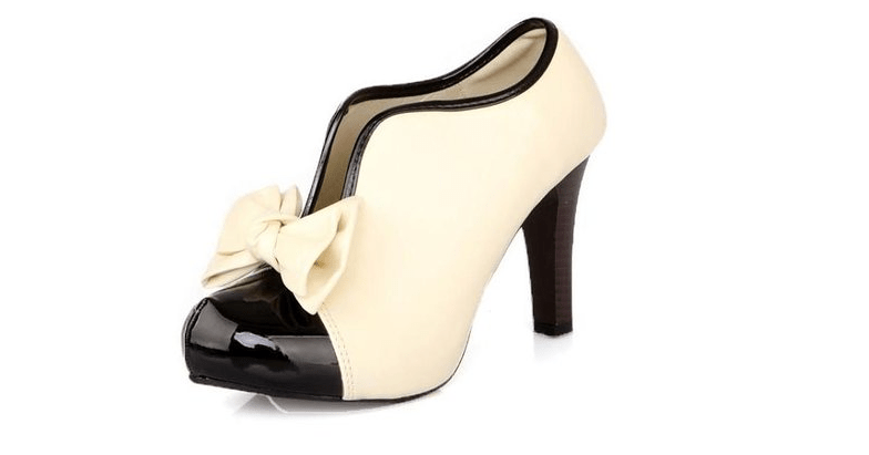 black and cream wedding shoes