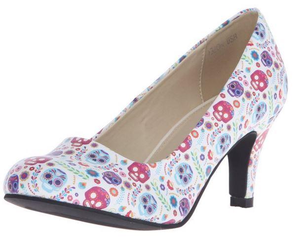 cute skull shoes