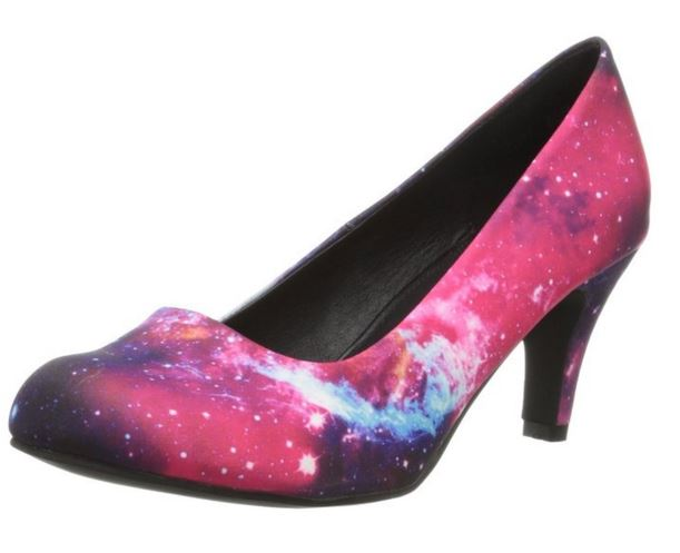 galaxy shoes on offbeat bride