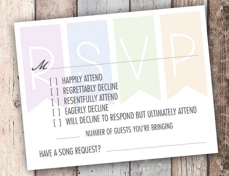 Super funny RSVP card as seen on @offbeatbride #funny #wedding #rsvp