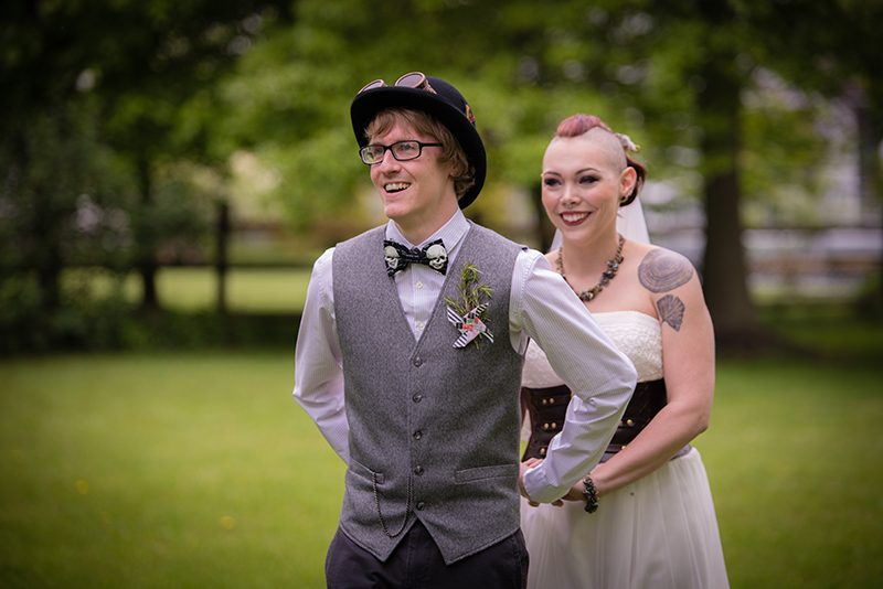 Awesome steampunk circus wedding as seen on @offbeatbride