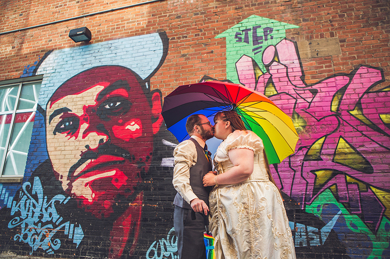 Rock Band, drag kings, and burlesque: this rainbow wedding triumphs