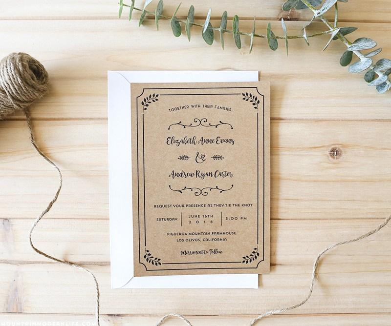 Free wedding invitation printables