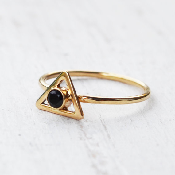 Hufflepuff engagement rings for all four houses