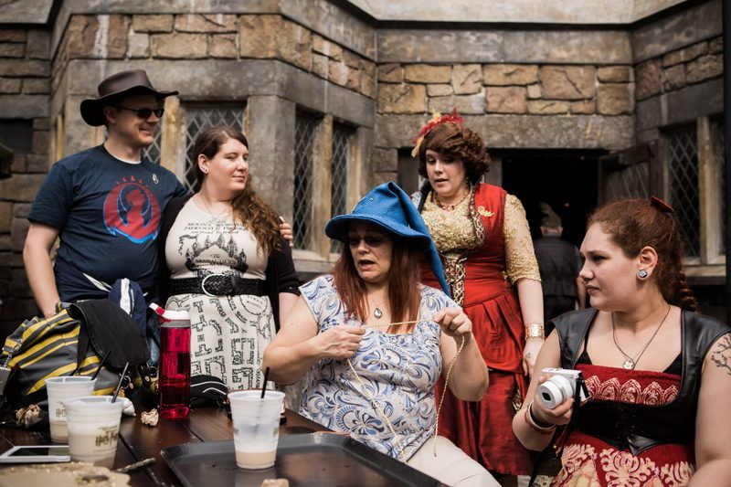 A guerrilla-style Harry Potter wedding at the Wizarding World (with handmade outfits!)