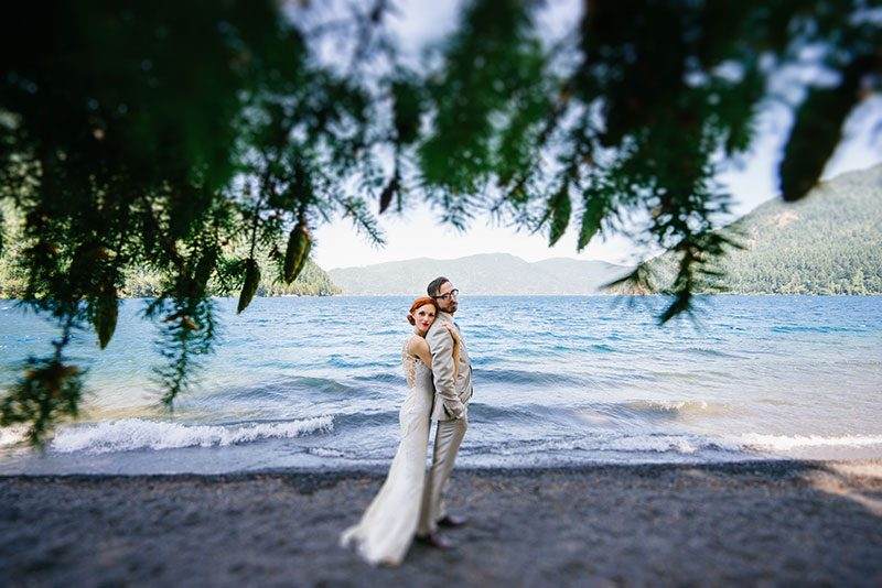 Bask in the glow of this rustic National Park wedding