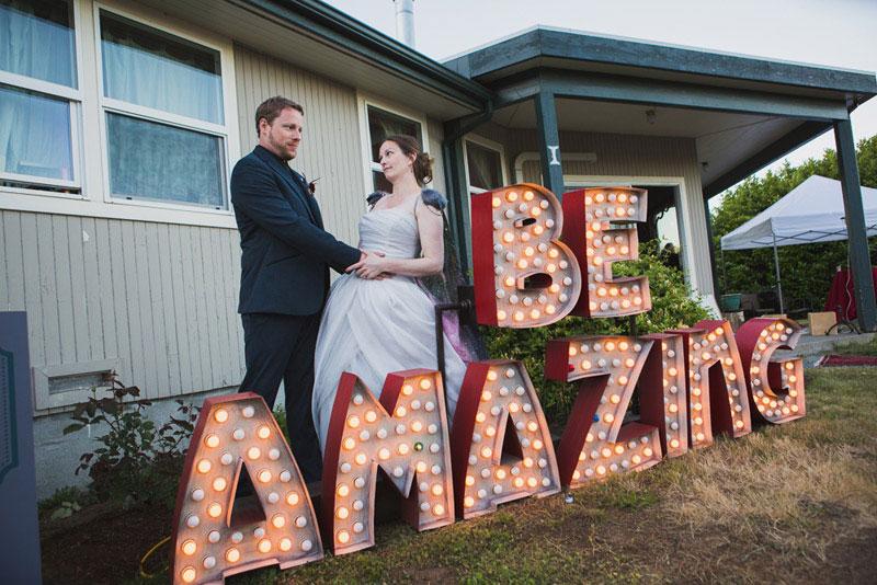 A Whidbey Island, WA wedding in their own backyard