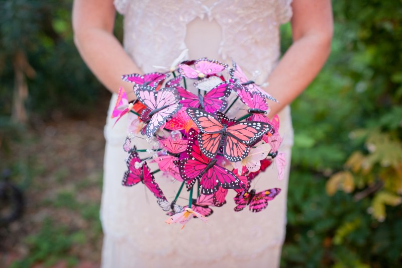 This butterfly bouquet is the nature-inspired bouquet you can totally DIY