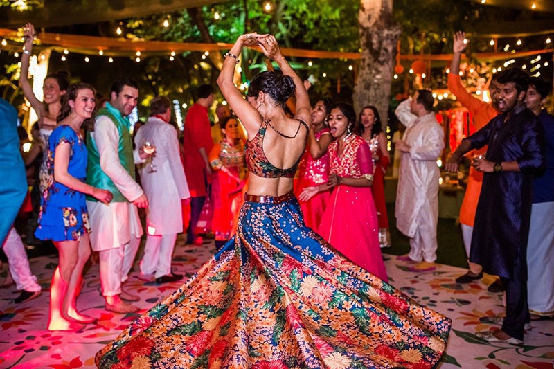 A spectacular three-day wedding in India