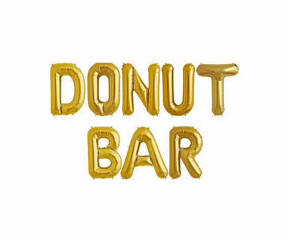 Everything you'll need for a killer wedding donut bar