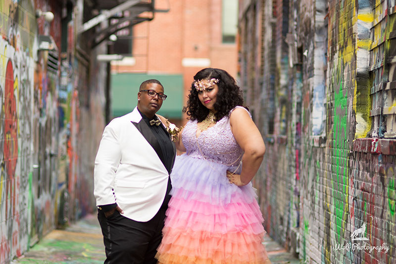 Queer black Baltimore realness: a drag king and a burlesque performer get married