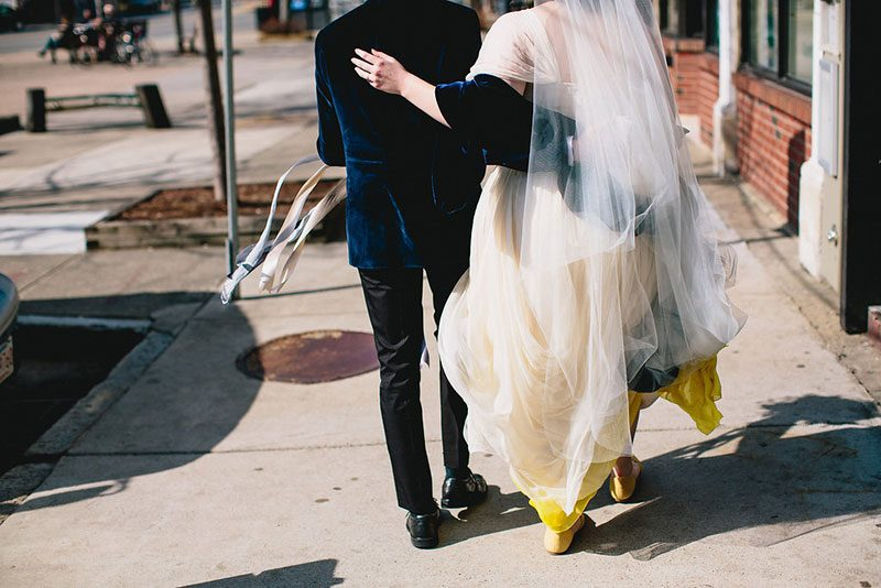 Don't miss the ombre dress at this brunch wedding
