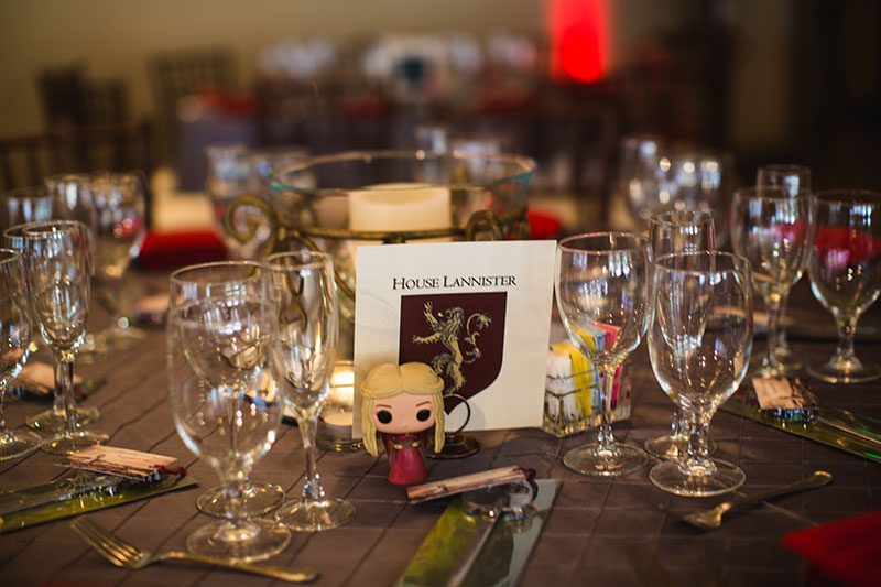 A wedding of Ice and Fire: A Game of Thrones-inspired wedding